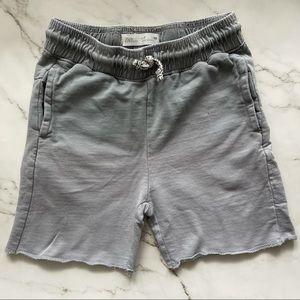 Zara boys grey ombré drawstring sweat shorts 7
